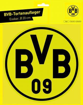 Essbarer Tortenaufleger BVB 09 / 20 cm Ø - Cake Toppers, essbare Auflage
