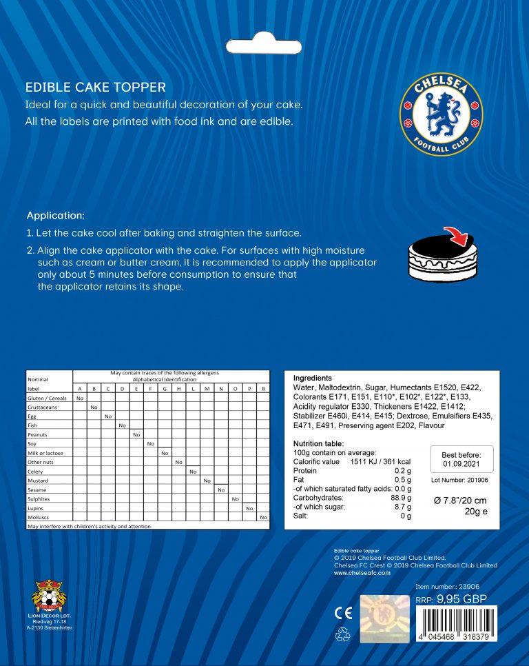 Edible Cake Topper Chelsea F.C.