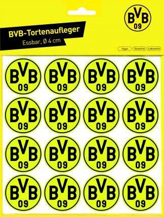 Essbare Torten & Muffinaufleger BVB 09 / 4 cm Ø / 16 Stück